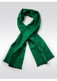 Kelly Green and Blue Polka Dot Scarf