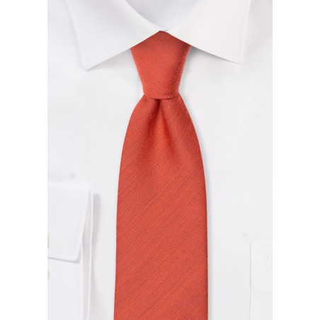 Matte Woven Tie in Cinnamon