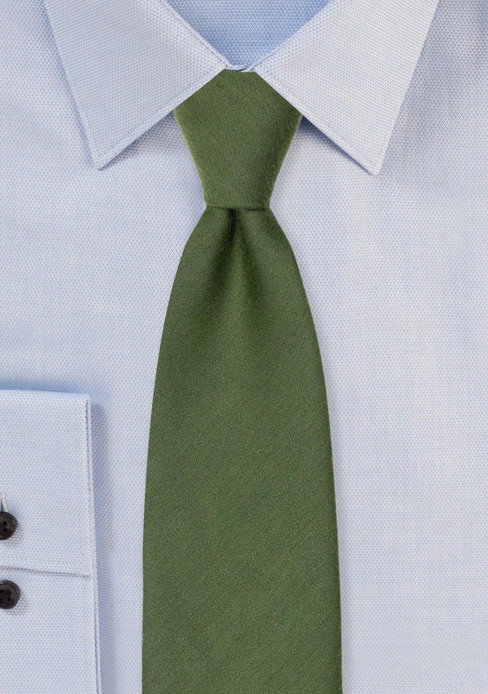 Olive Green Tie with Woolen Finish