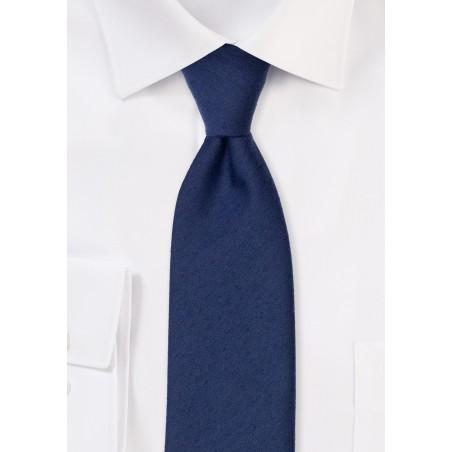 Matte Finish Tie in Navy Blue