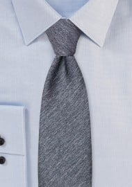 Charcoal Gray Heather Slim Tie