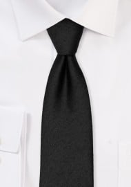 Contemporary Woolen Black Tie