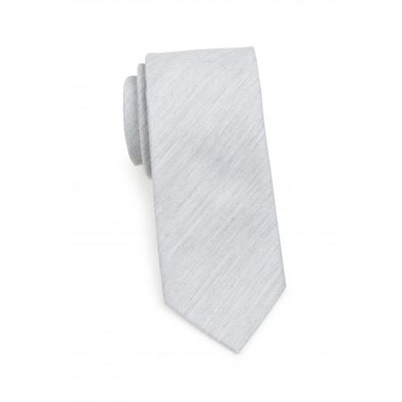 Woolen Matte Texture Tie in Mystic Gray Rolled