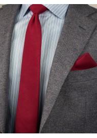 Slim Cut Sedona Red Mens Tie Styled
