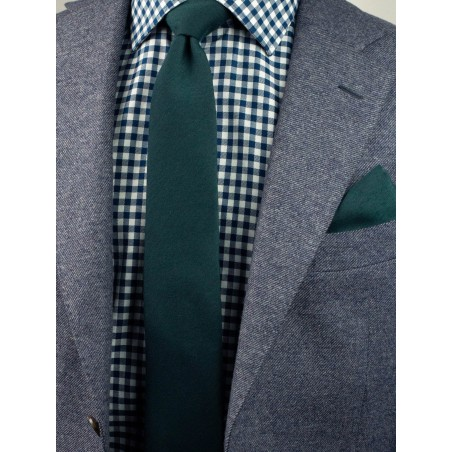 Woolen Tie in Forest Green Styled