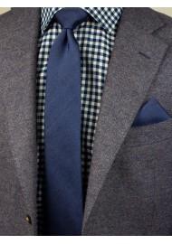 Modern Slate Blue Tie Styled