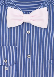 Linen Textured Bow Tie in Blush
