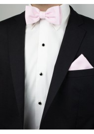 Linen Textured Bow Tie in Blush Styled