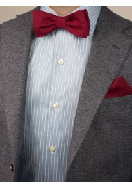 Brilliant Sedona Red Bow Tie Styled