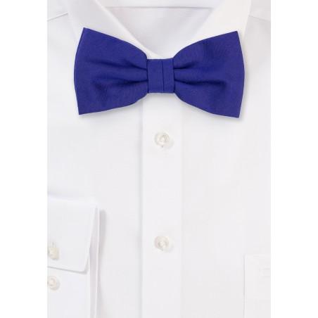 Matte Woven Bow Tie in Ultramarine