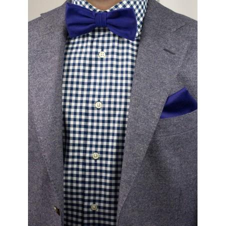 Matte Woven Bow Tie in Ultramarine Styled