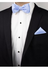 Blue Bird Heather Bow Tie Styled