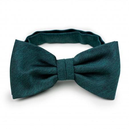 Woolen Bow Tie in Gem Green