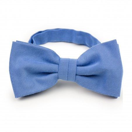 Ash Blue Woolen Bow Tie
