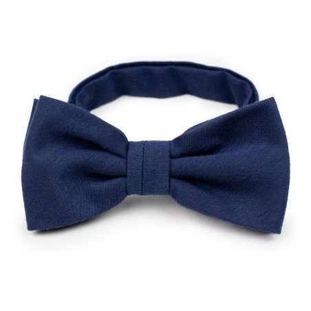 Mens Bow Tie in Navy with Matte Woolen Finish