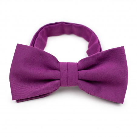 Matte Woven Bow Tie in Sangria