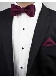 Burgundy Bow Tie Styled