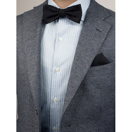 Contemporary Black Bow Tie Styled