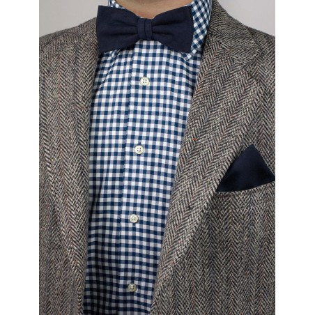 Nuanced Midnight Bow tie Styled