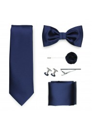 navy blue tie gift set