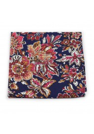 floral pocket square in bright colors
