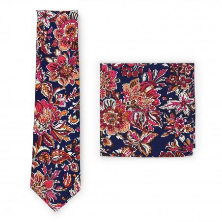 vintage floral necktie set