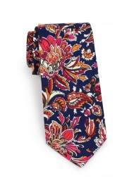 mens floral tie in vintage design