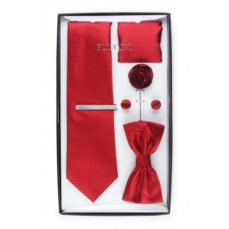 menswear gift set in deep cherry red