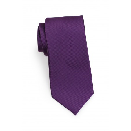 textured solid tie in grape wine red