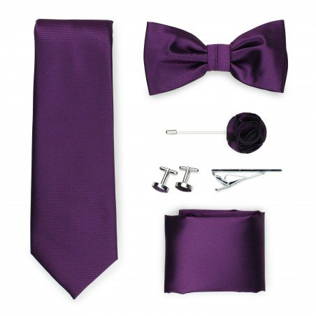 wine red formal menswear tie set
