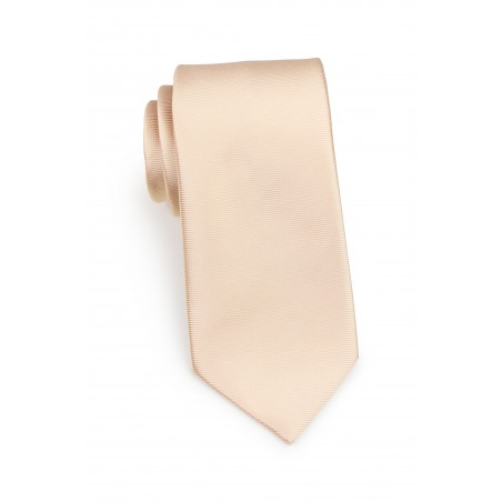solid color mens tie in golden champagne