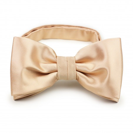 solid color bow tie in golden champagne