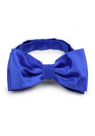 woven bow tie in royal blue with pin dots
