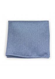 Linen Textured Hanky in Steel Blue