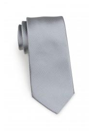 slim cut designer tie in silver with micro dots