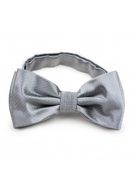 bow tie in silver with fine pin dot pattern