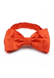 tangerine hued pin dot bow tie