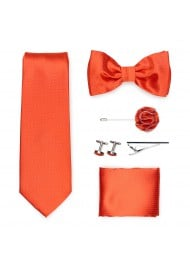 wedding groomsmen gift set in tangerine