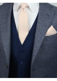 styling tips for peach skinny wedding ties