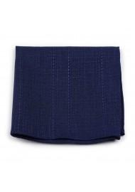dark navy blue cotton pocket square