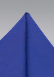 Marine Blue Woolen Textured Pocket Square