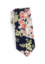skinny necktie in Japanese design print