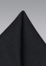 Classic Black Woolen Pocket Square