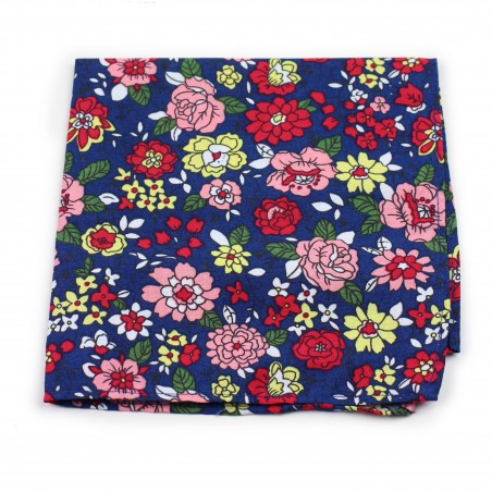 colorful flower print pocket square