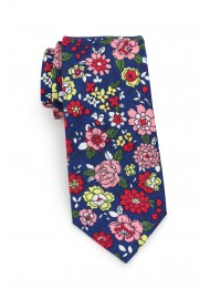 cotton tie in skinny cut