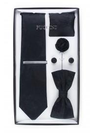 6-piece menswear set in black paisley