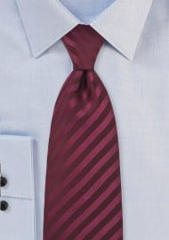 Single color burgundy red tie - Stain resistant microfiber tie in burgundy red