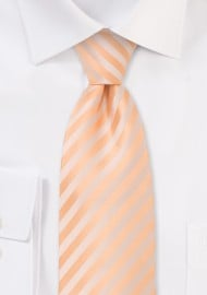 Solid peach color tie - Stain resistant Microfiber necktie in peach-orange