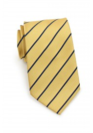 Yellow and Blue Kids Tie with Stripes