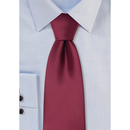 Solid Burgundy Kids Tie